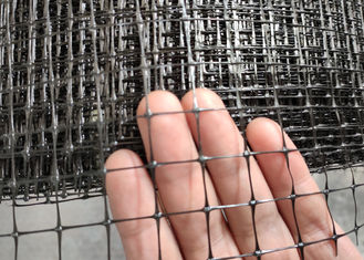 Black Color Industrial Plastic Netting PP Support Mesh 40g / Sqm Free Sample